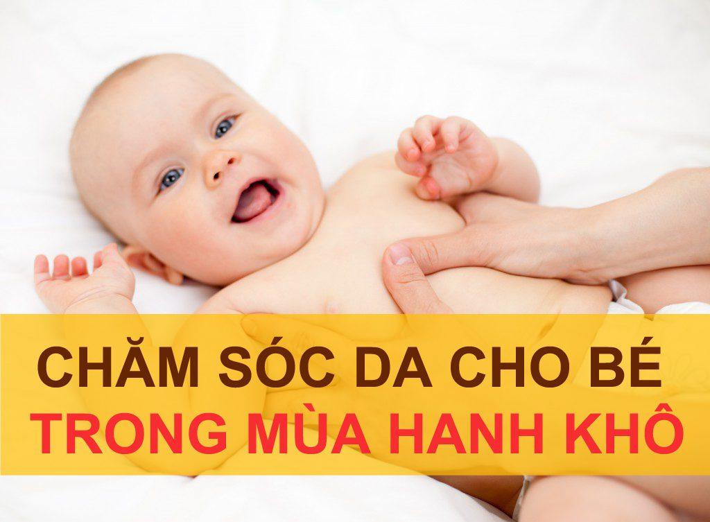 chăm sóc da cho bé trong mùa hanh khô