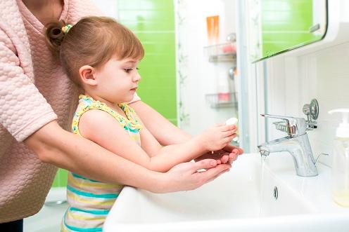 thói quen rửa tay sạch sẽ hàng ngày